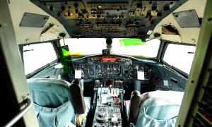 สภาพในห้องนักบินที่ยังดูดี