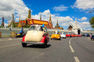 Microcar Parade for the Celebration of H.M. Queen Sirikit's 82nd Birthday Anniversary – 12 August 2014